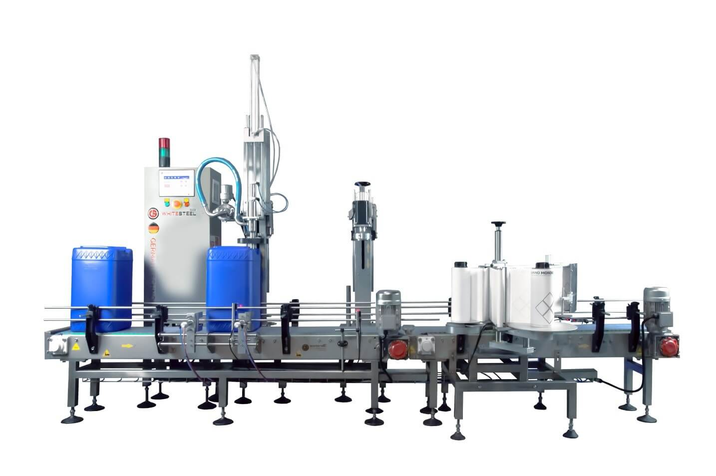GALLON FILLING CAPPING LABELING MACHINE PF15