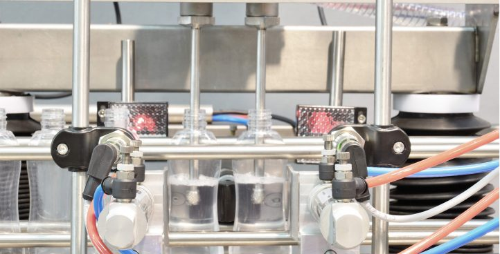 HAND SANITIZER FILLING CAPPING LABELING MACHINE (2 HEADS) PF4